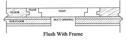 flush with frame wood vent sketch