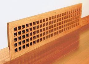 eggcrate style baseboard vent