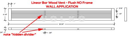 wall vent oak linear bar skinny wood vent