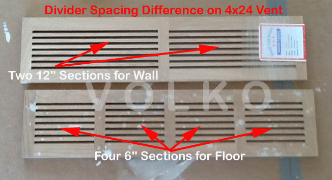 Horizontal Linear Bar Wood Grille Divider Example