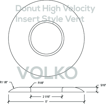 Round Open Insert High Velocity Wood Vent Cover