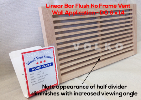linear bar wood vent wall application
