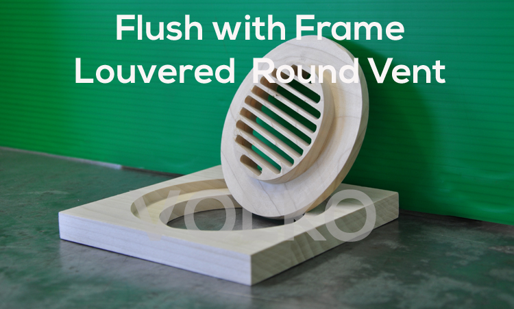 Round Louvered High Velocity Wood Vent Cover No Coupler