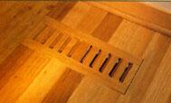 wood grille, original wide louver, flush mount no frame