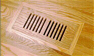 solid block flush mount wood vent