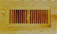 Trimline Flush NO Frame Wood Floor Vent