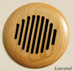Round Louvered Wood High Velocity Vent Cover