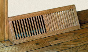 stained oak base vent