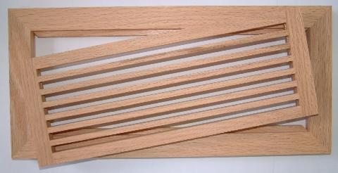 Wood Vent Horizontal Linear Bar Wood Grille